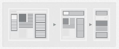 Responsive Three Columns Webdesign
